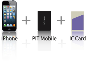 iPhone + PIT Mobile + IC Ca